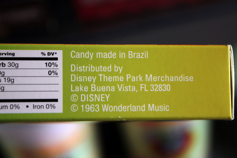 apparently the gummy candies comes from brazil...